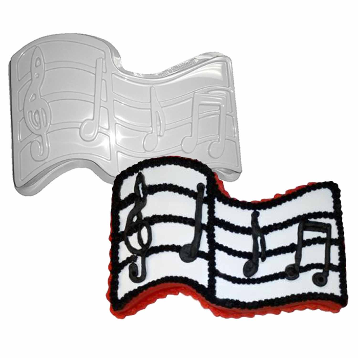 Musical Notes Pantastic Plastic Cake Pan
