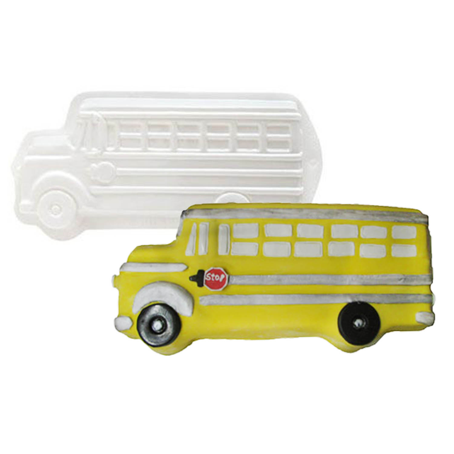 School Bus Pantastic Plastic Cake Pan