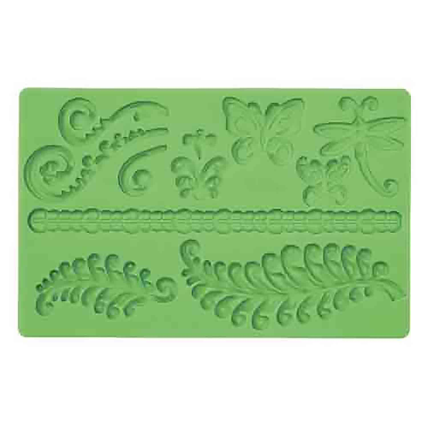 Fern and Butterfly Silicone Mold