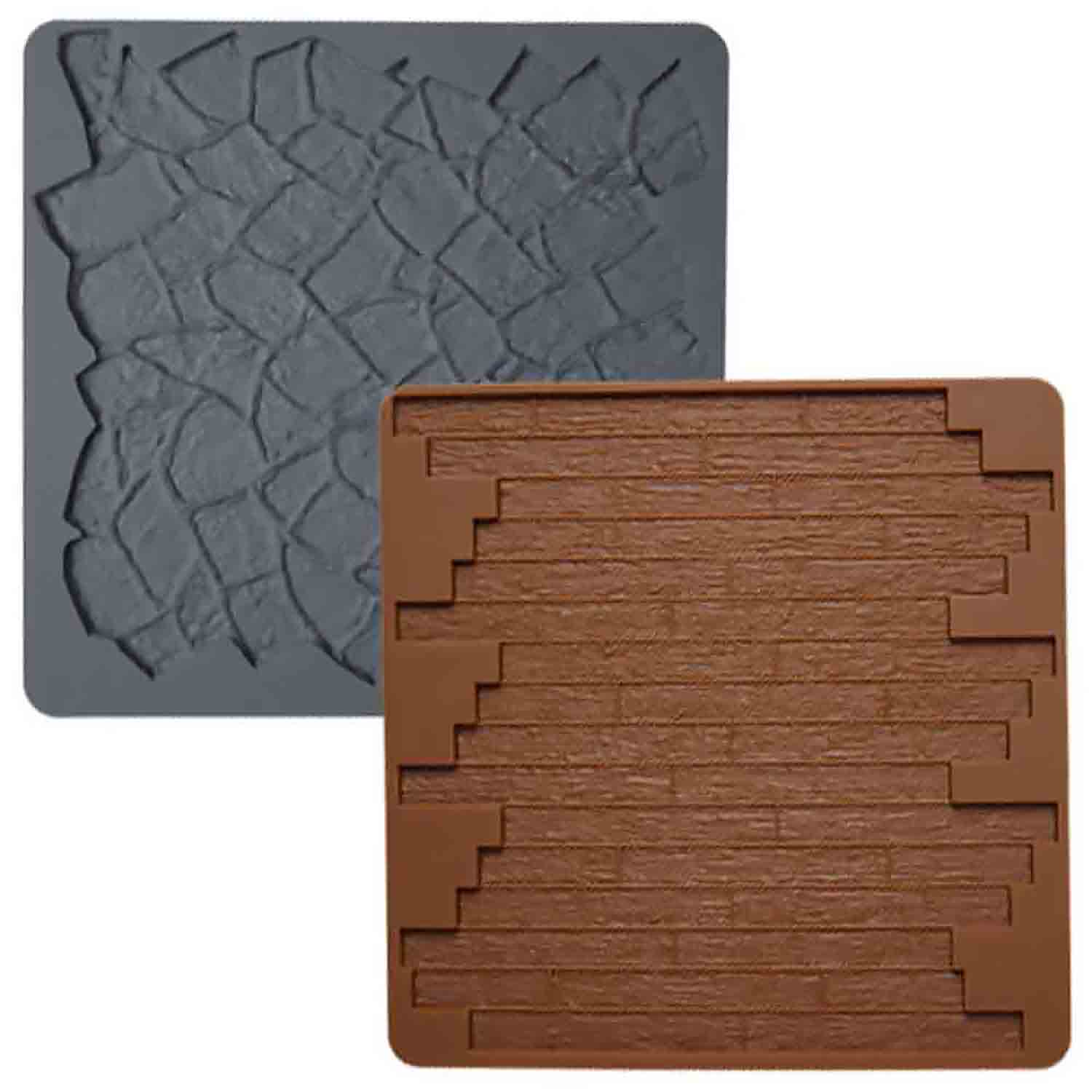 Stone and Wood Texture Mat Set