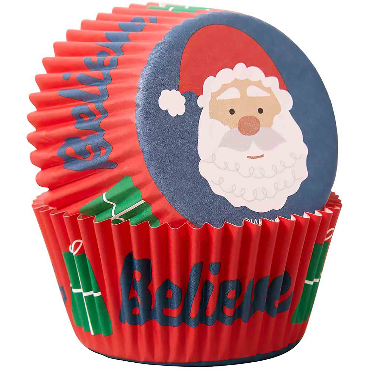 Santa Claus Believe Standard Baking Cups