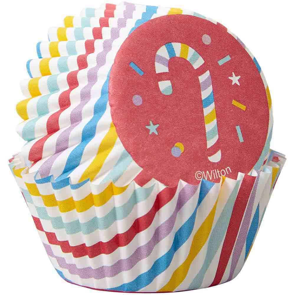 Candy Cane Mini Baking Cups