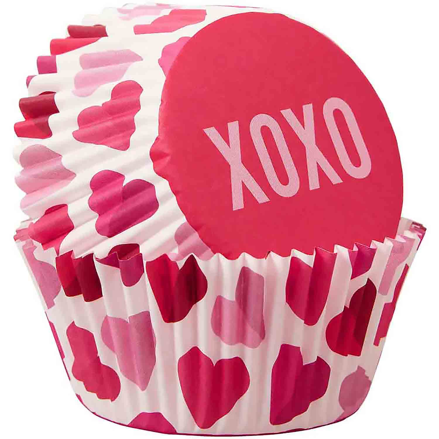 Scattered XOXO Standard Baking Cups