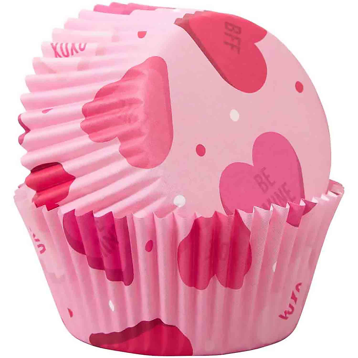 Scattered Hearts Standard Baking Cups