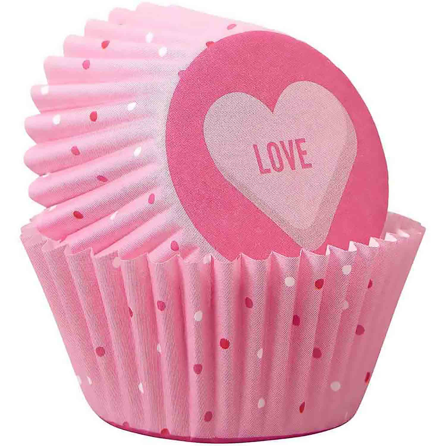 Scattered Hearts Mini Baking Cups