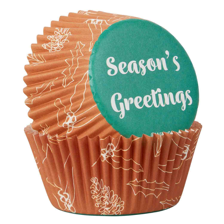Season's Greetings Standard Baking Cups