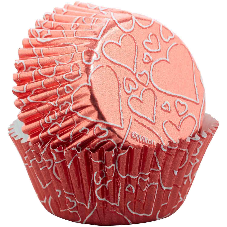 Foil Rose Gold Heart Standard Baking Cups