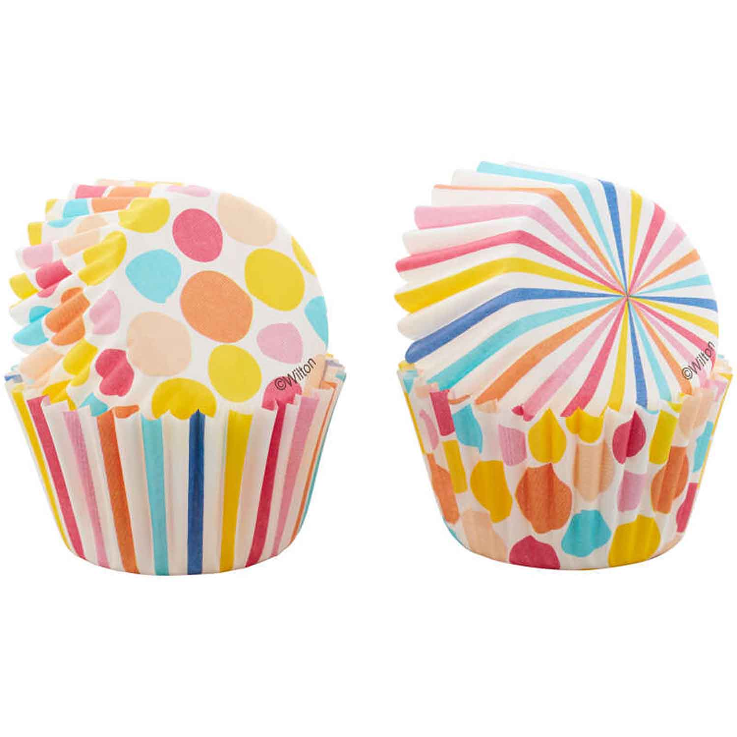 Dots and Stripes Mini Baking Cups