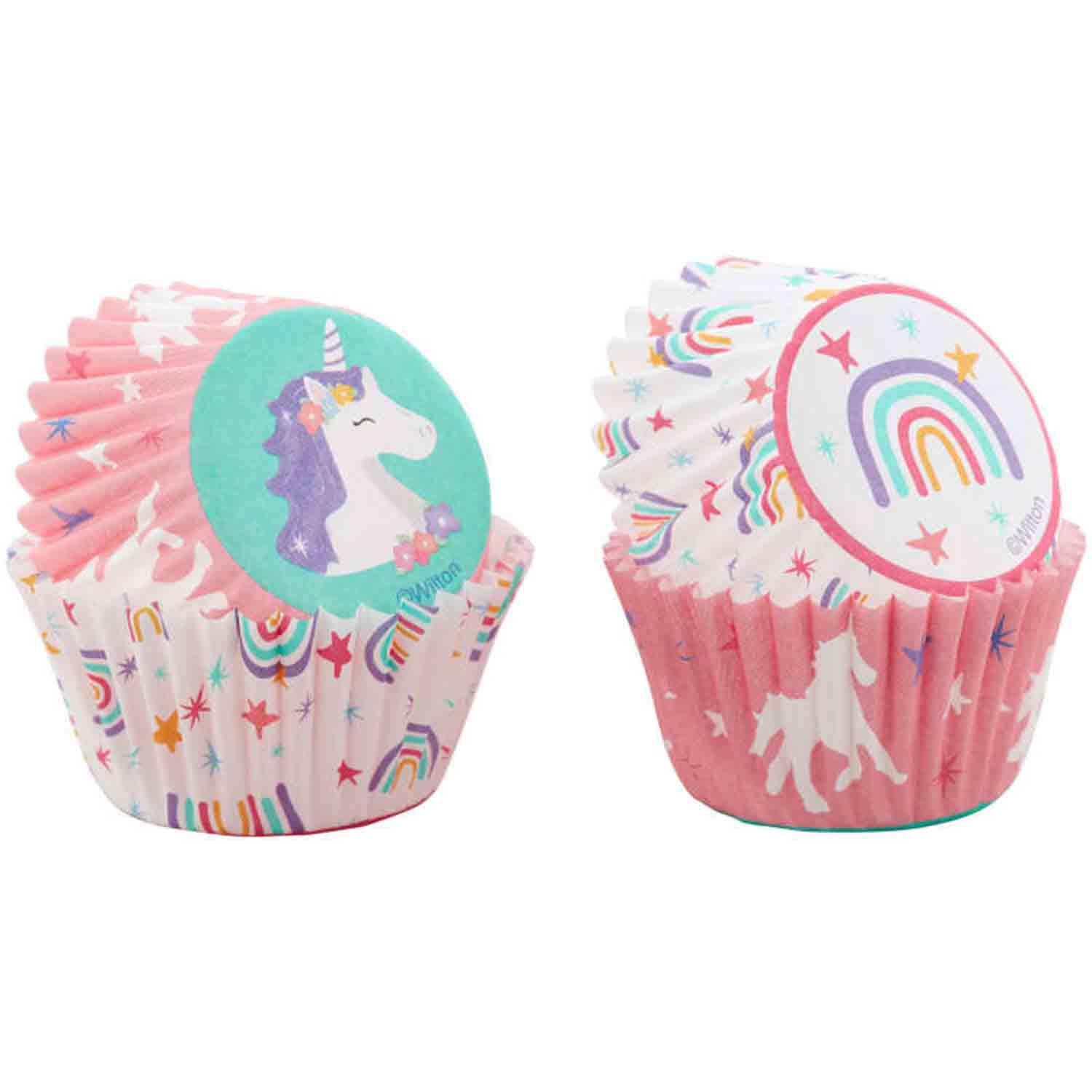 Unicorn & Rainbow Mini Baking Cups
