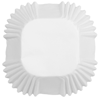 White Standard Square Baking Cups