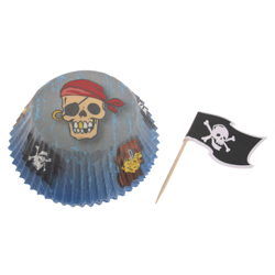Pirate Cupcake Combo Kit