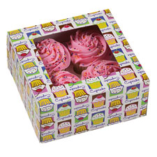 Cupcake Heaven 4 Ct. Cupcake Box with Window