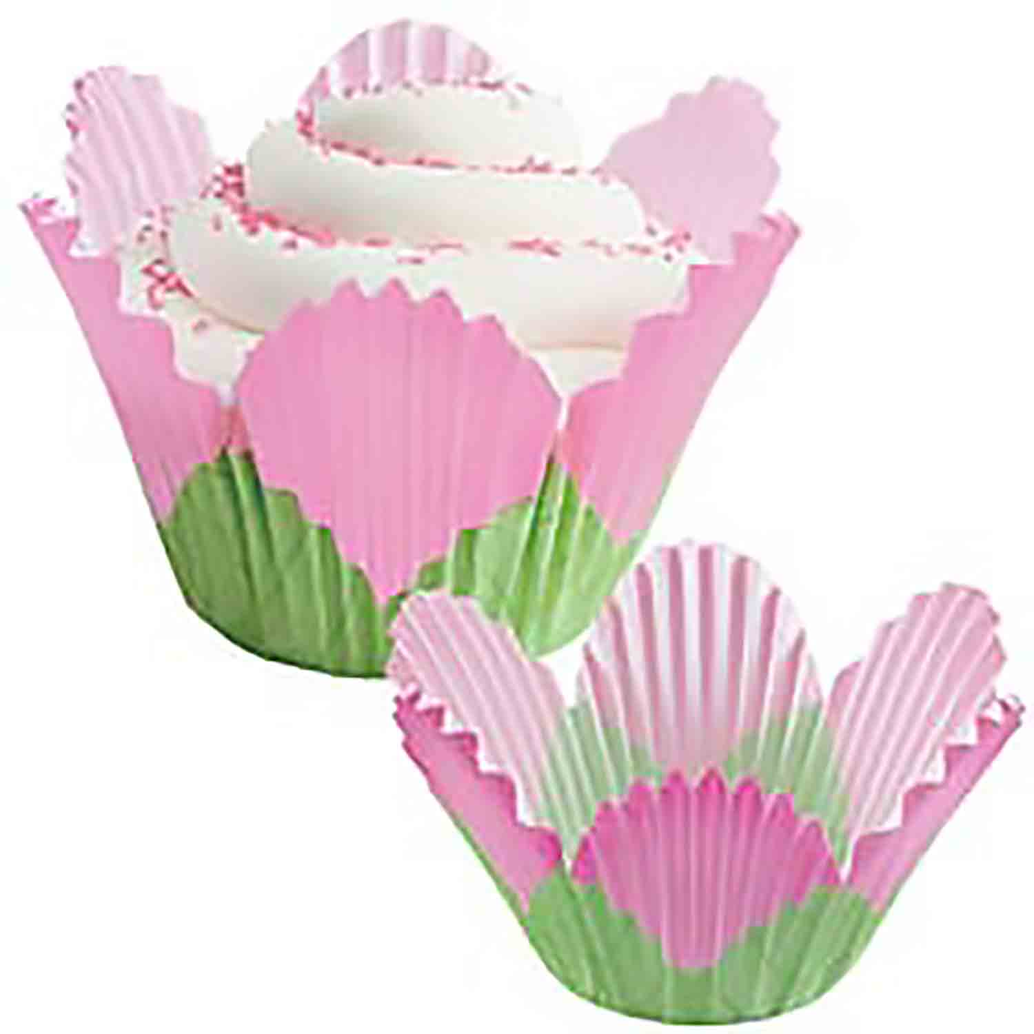 Pink Flower Standard Baking Cups