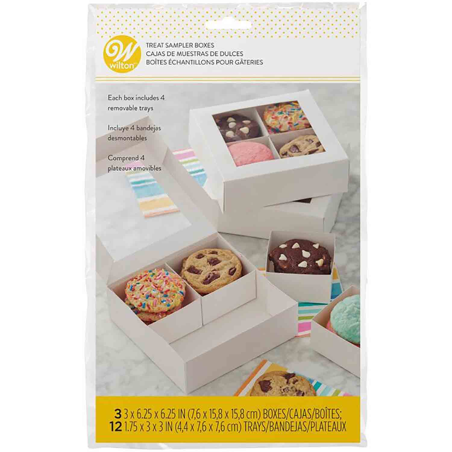 1 lb White Treat Box with Window