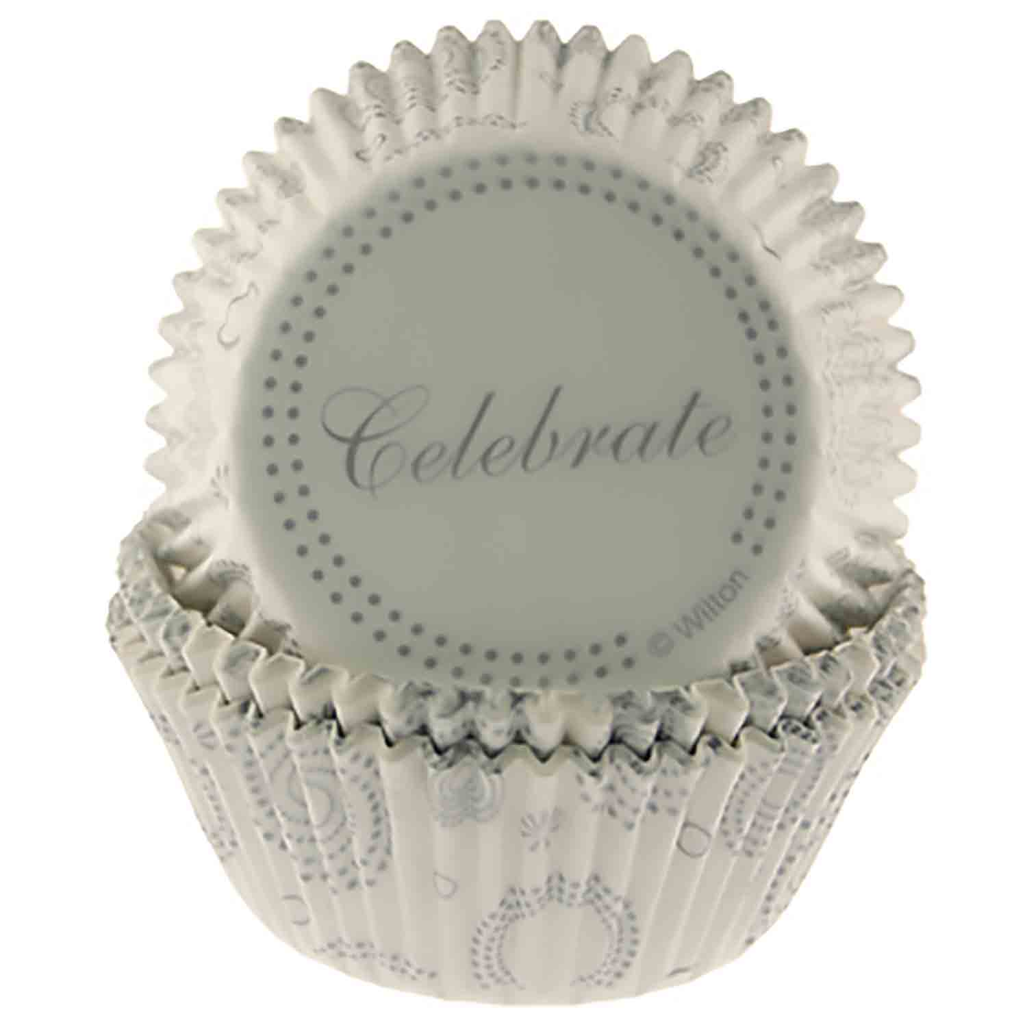 Wedding and Anniversary Baking Cups and Cupcake Wraps