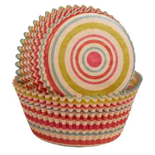 Unbleached Stripe Standard Baking Cups