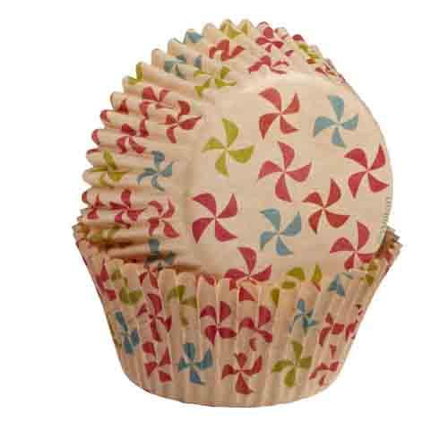 Unbleached Pinwheel Standard Baking Cups