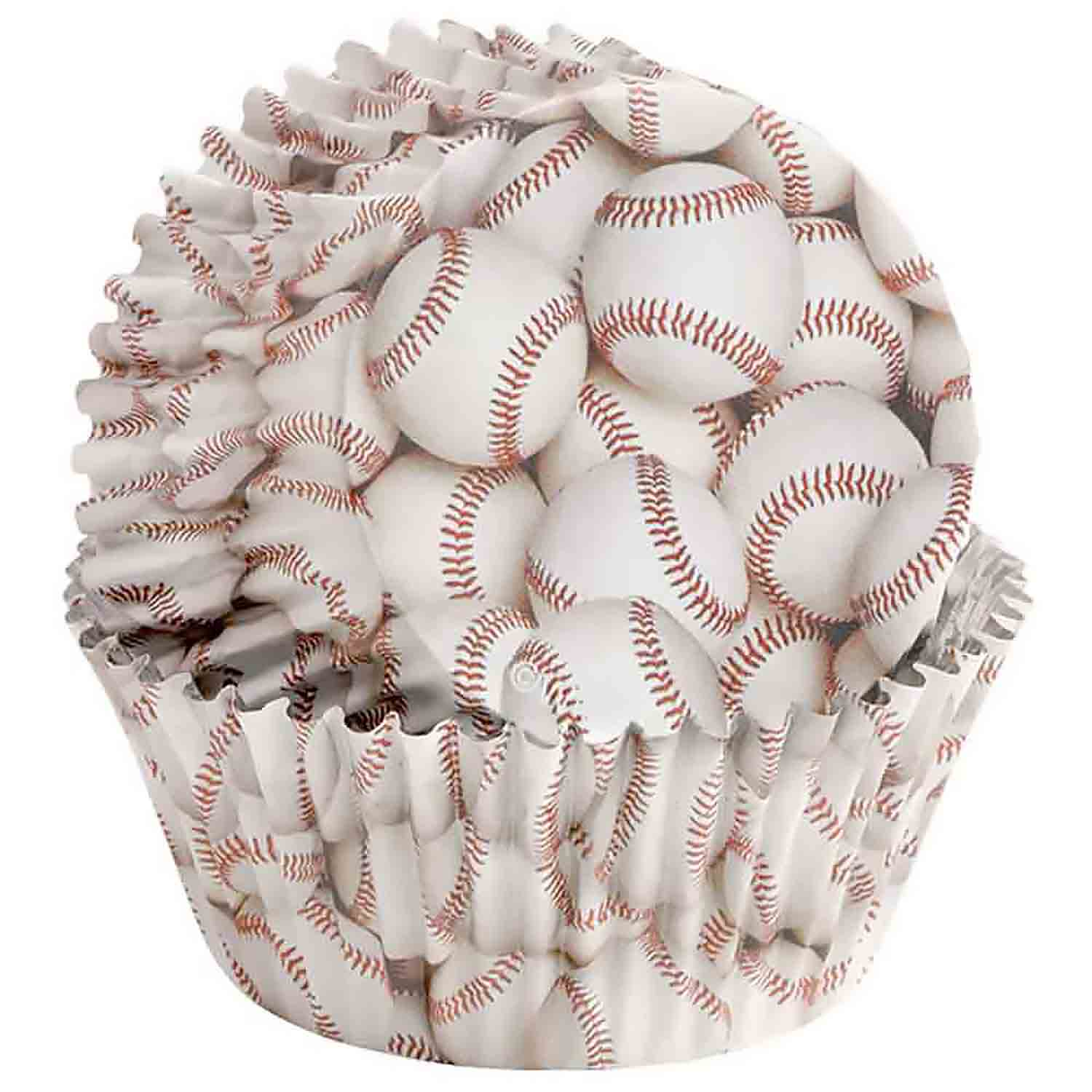 Baseball Standard Baking Cups