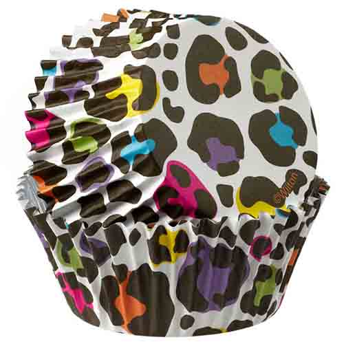 Leopard Brights Standard Baking Cups