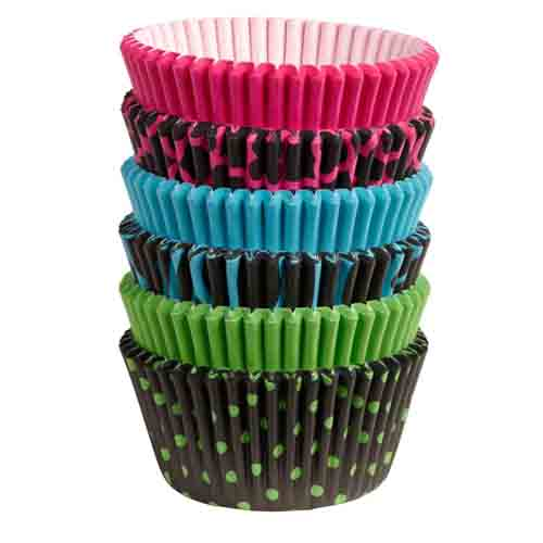 Neon Darks Standard Baking Cups