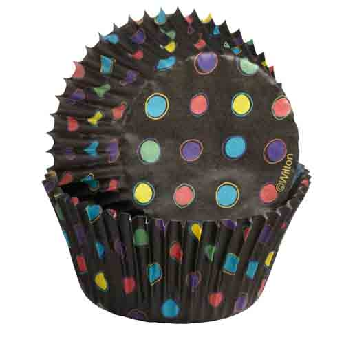 Black w/ Neon Dots Standard Baking Cups