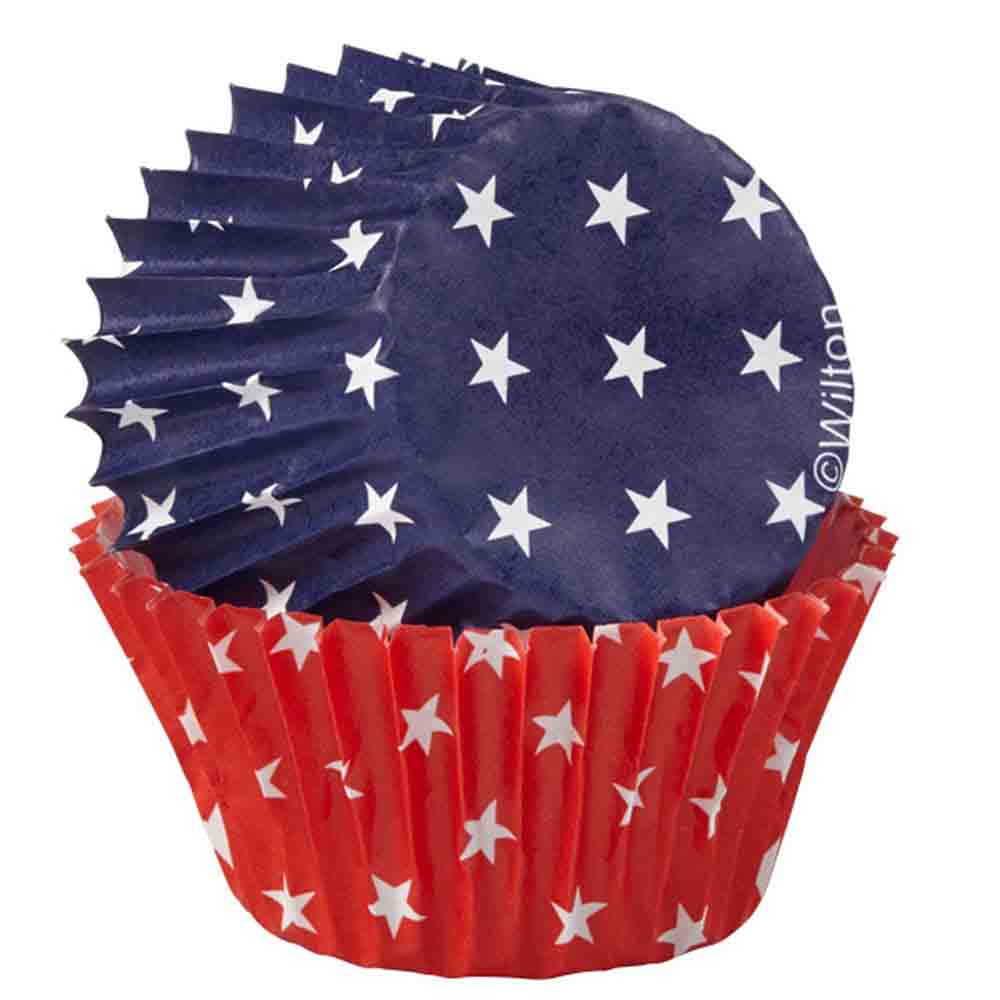 Red, White, and Blue Mini Baking Cups
