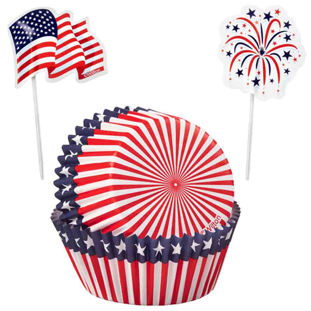 Red, White, and Blue Cupcake Combo Kit