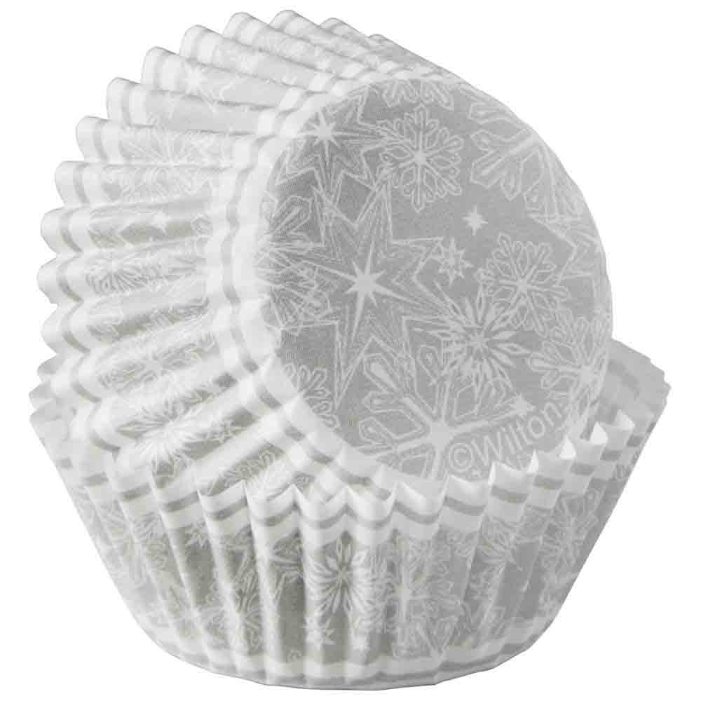 Snowflake Mini Baking Cups