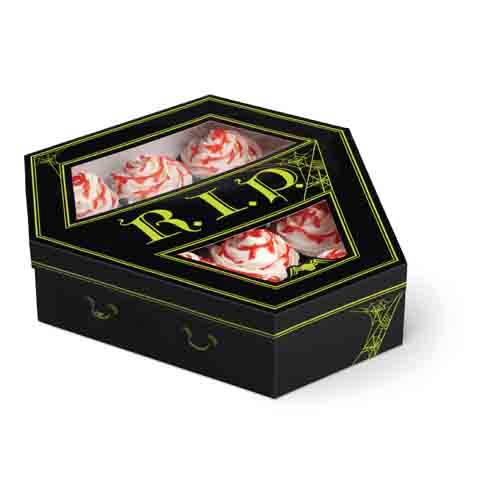 Coffin 12 ct. Cupcake Box with Window