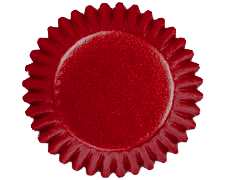 Red Foil Bonbon Baking Cups