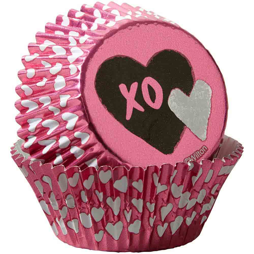 Traditional Valentine Foil Standard Baking Cups