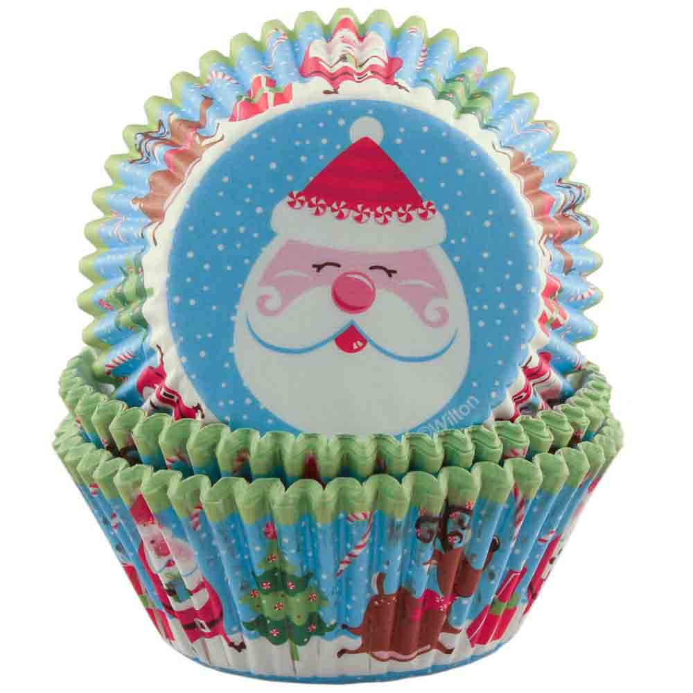 Cheerful Santa Standard Baking Cups