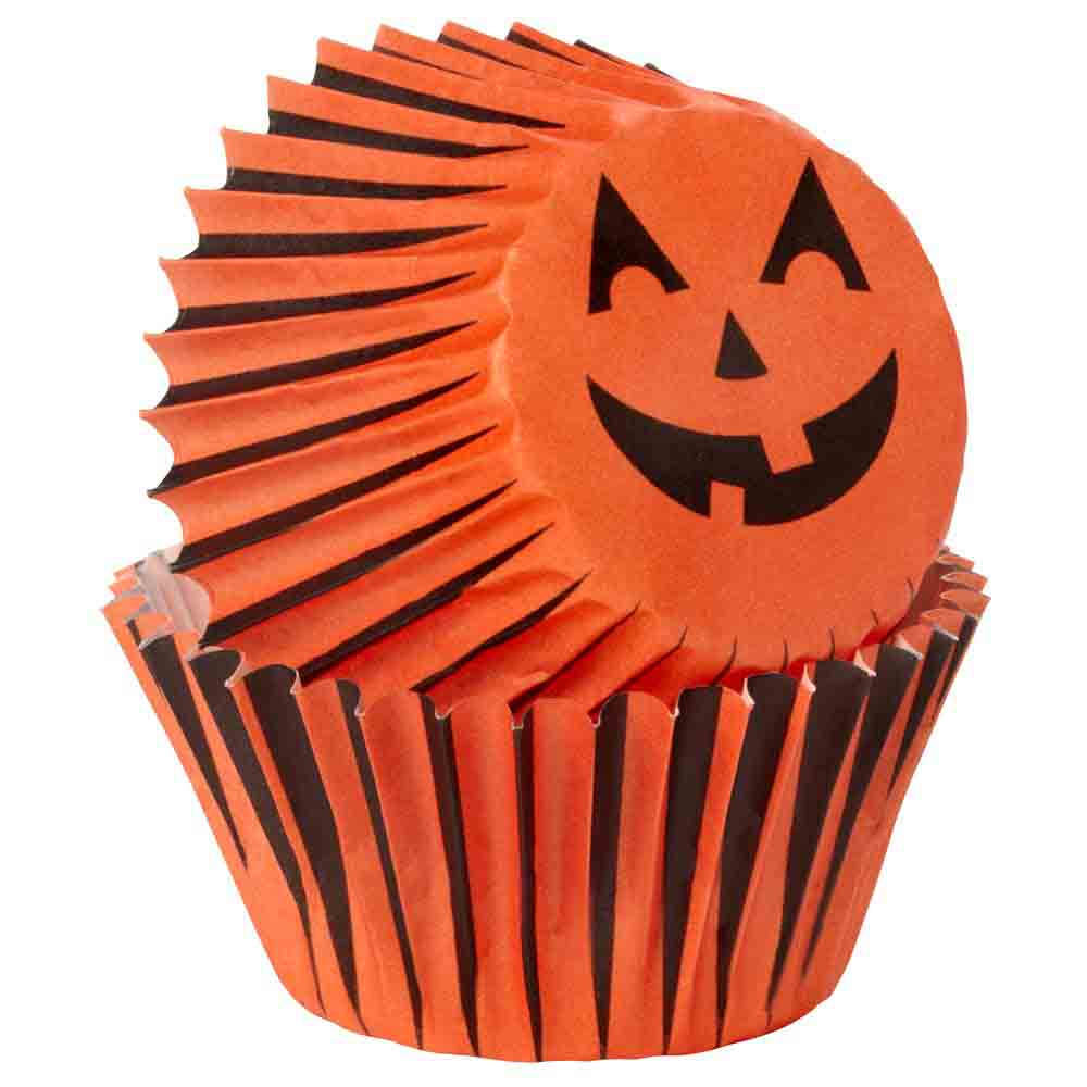 Jack-o-Lantern Mini Baking Cups