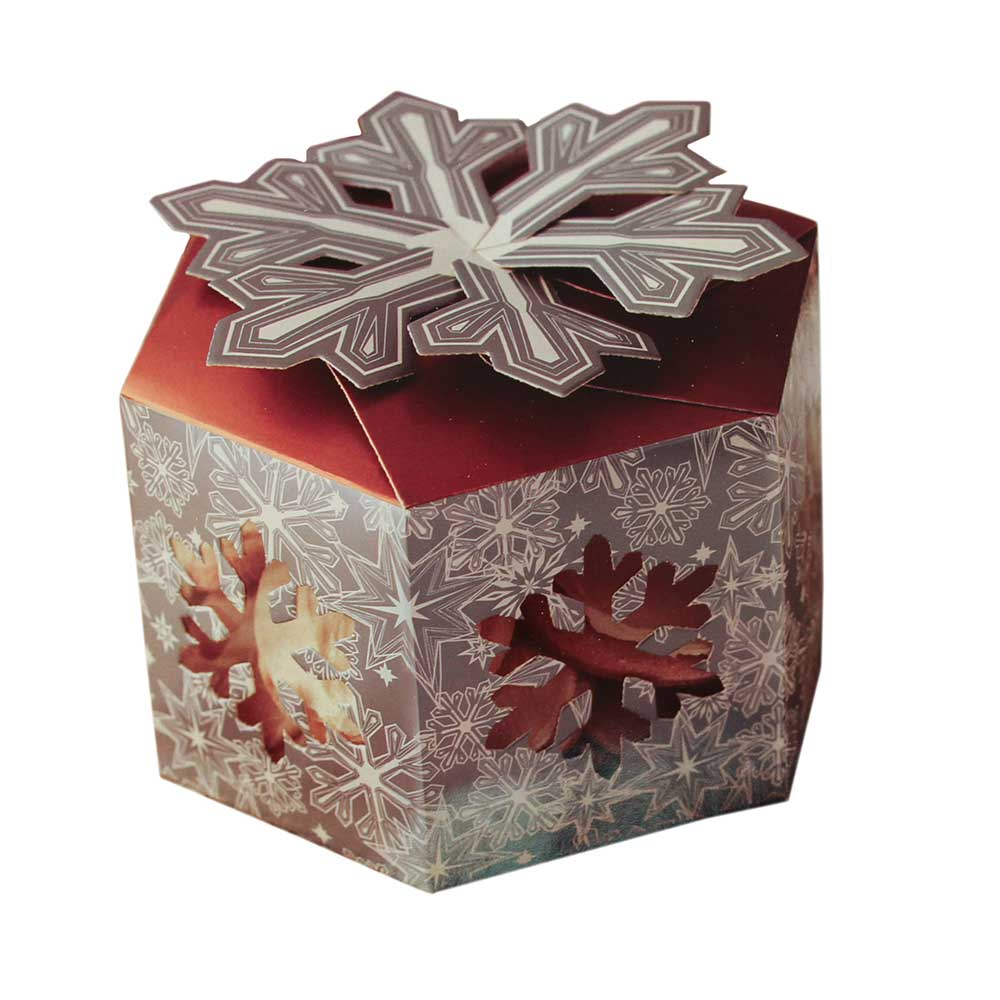 1 lb. Snowflake Wishes Hexagon Box with Window