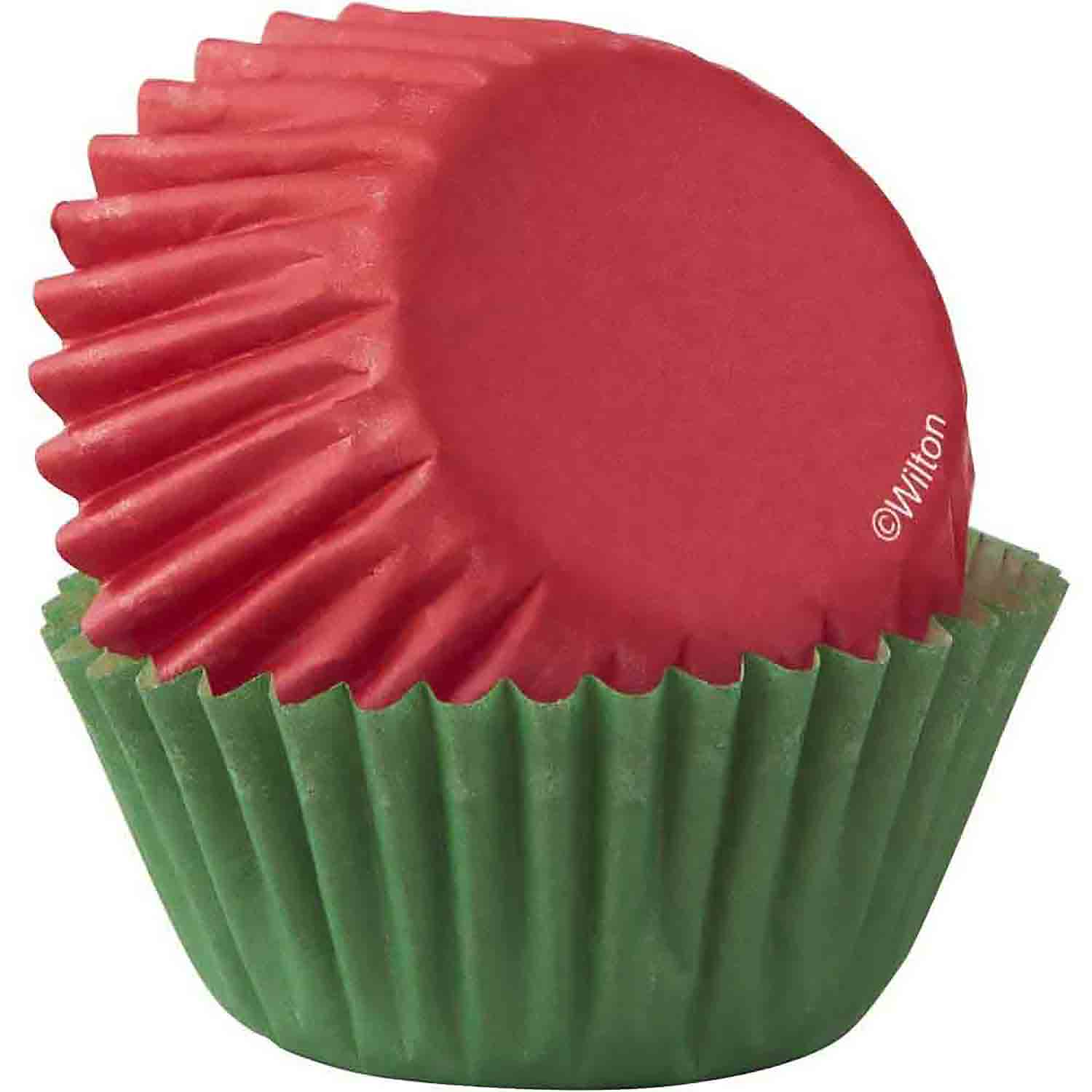Red and Green Mini Baking Cups