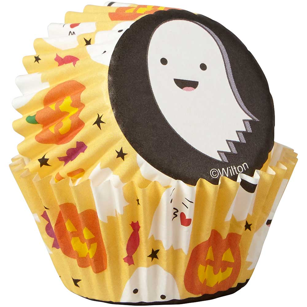 Emoji Ghosts Mini Baking Cups