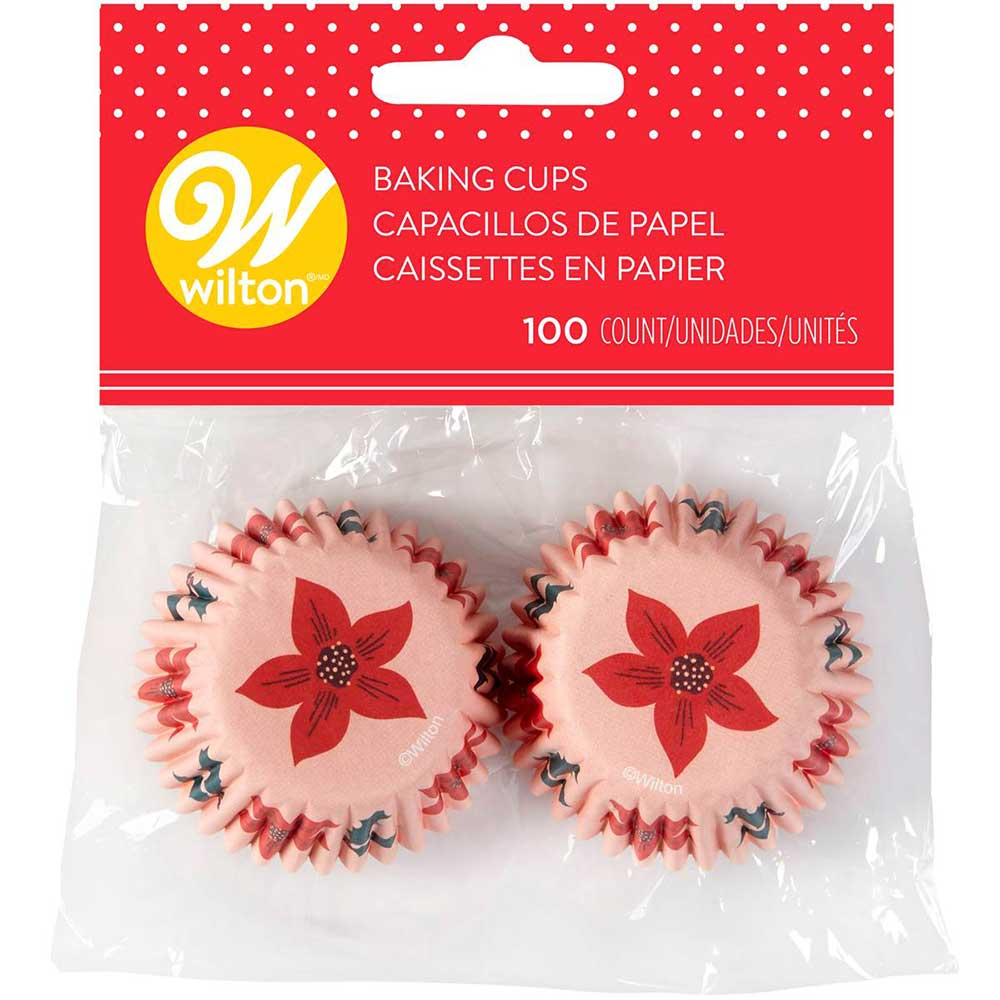 Christmas Flora Mini Baking Cups