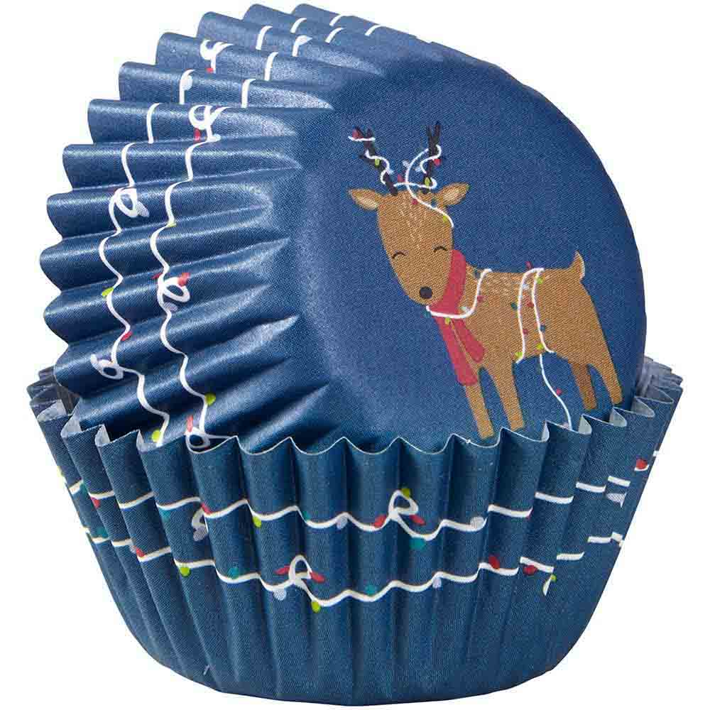 Reindeer with Lights Mini Baking Cups