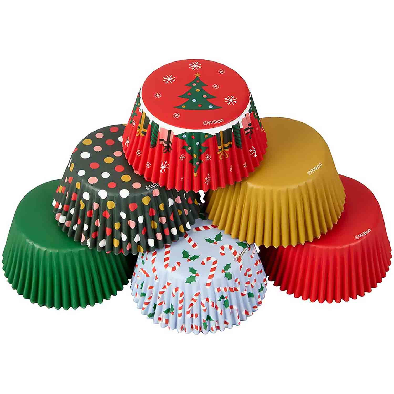Traditional Holiday Standard Baking Cups