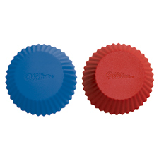Red and Blue Silicone Baking Cups