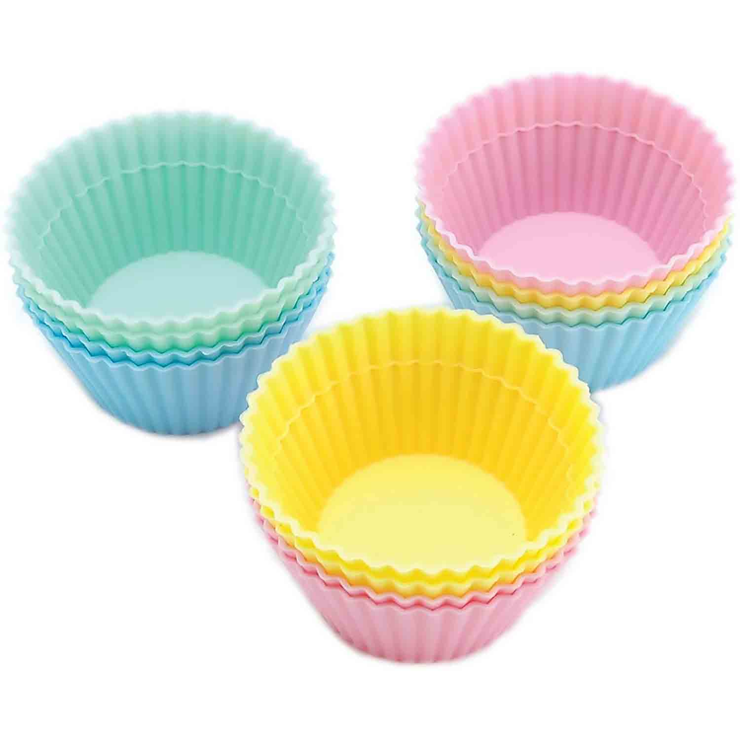Pastel Silicone Baking Cups