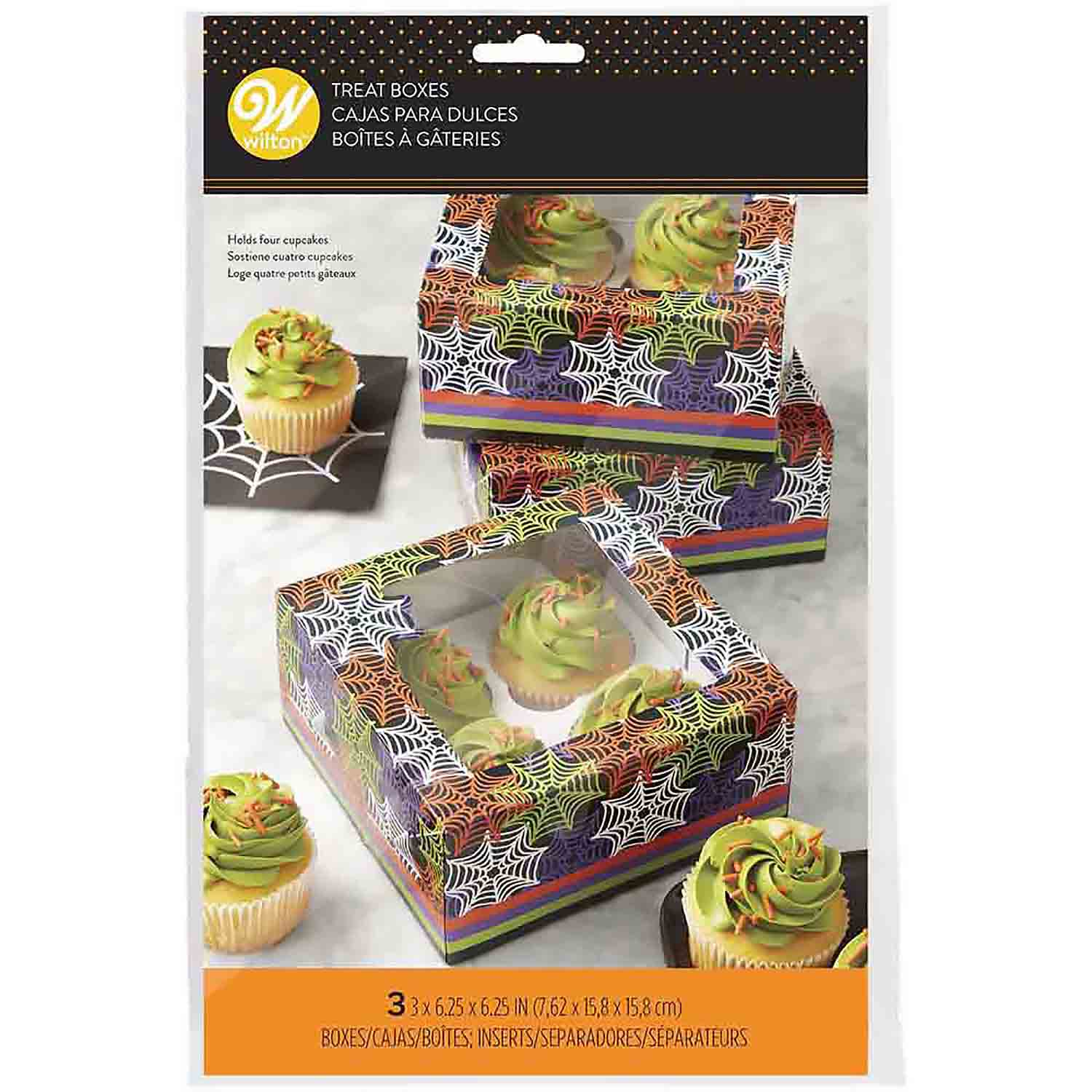 Web 4 Ct. Cupcake Box with Window