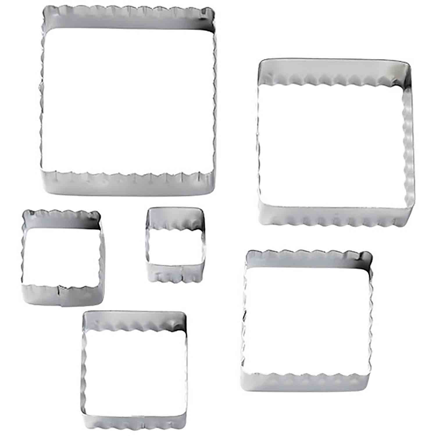 Straight and Fluted Square Cutter Set