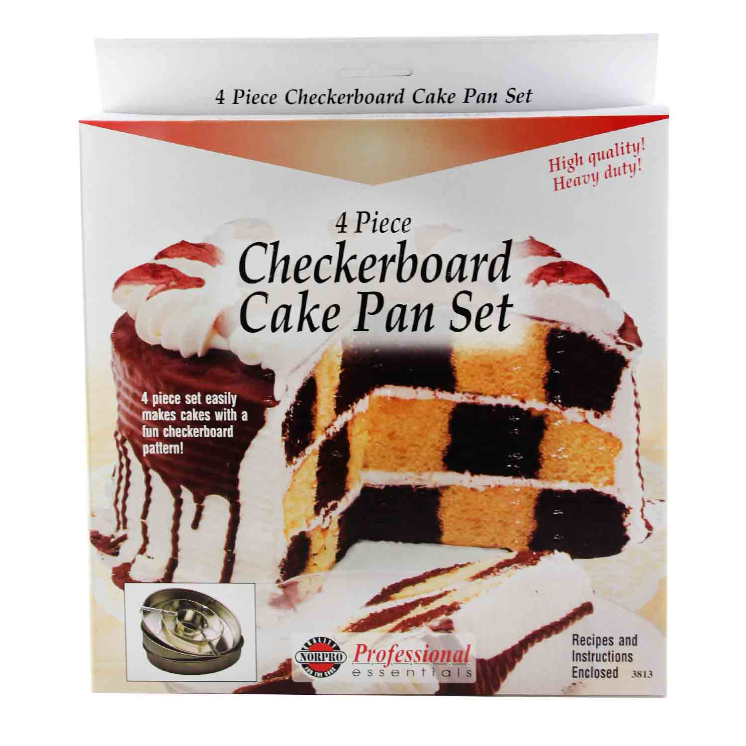 Checkerboard Cake Pan Set