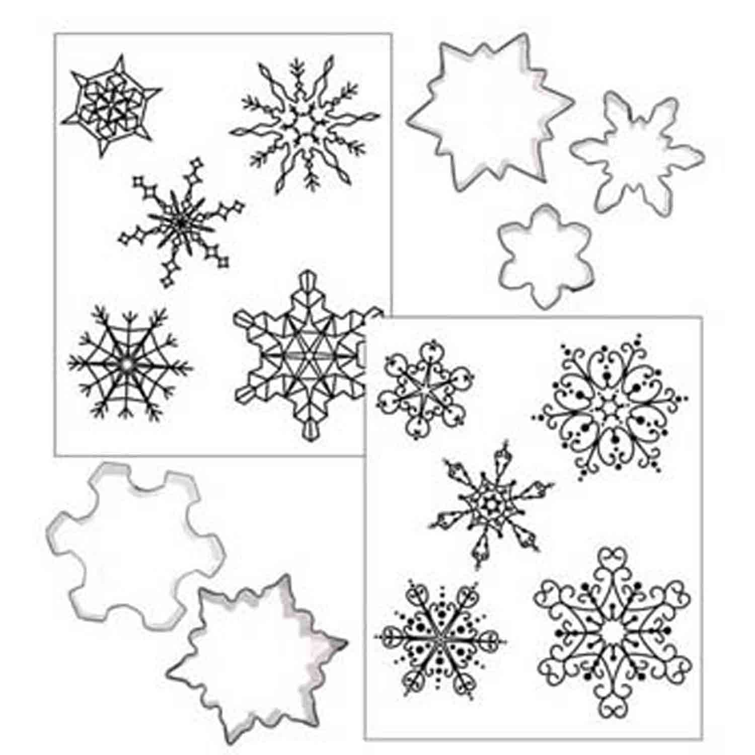 Snowflake Cookie Cutter Texture Set