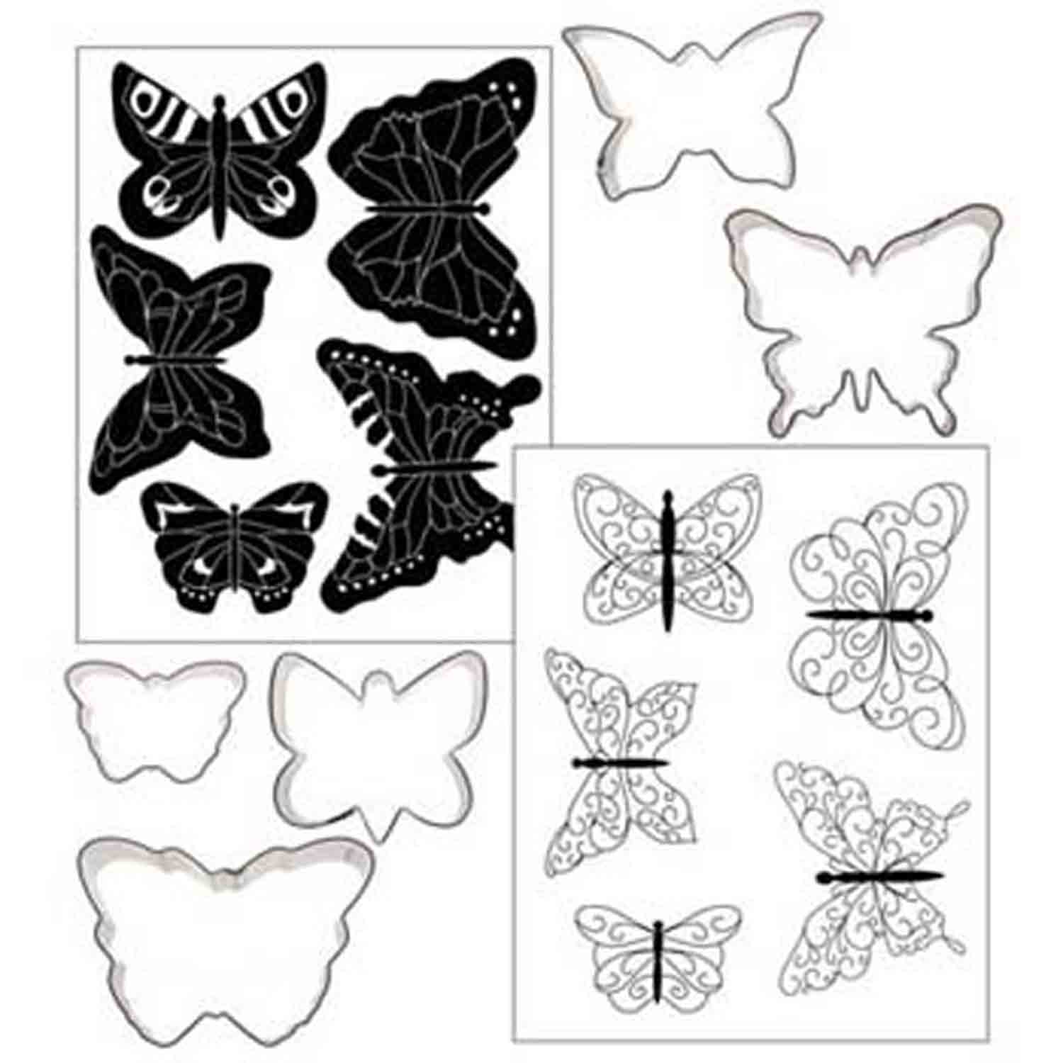 Butterfly Cookie Cutter Texture Set