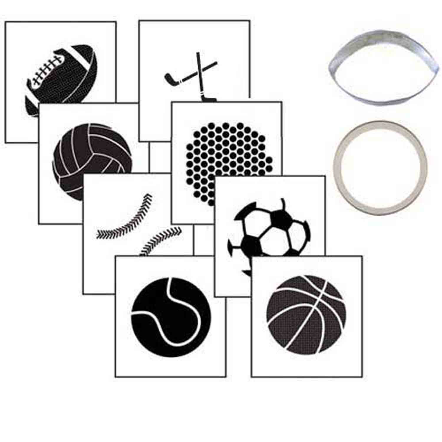 Sports Ball Cookie Cutter Texture Set
