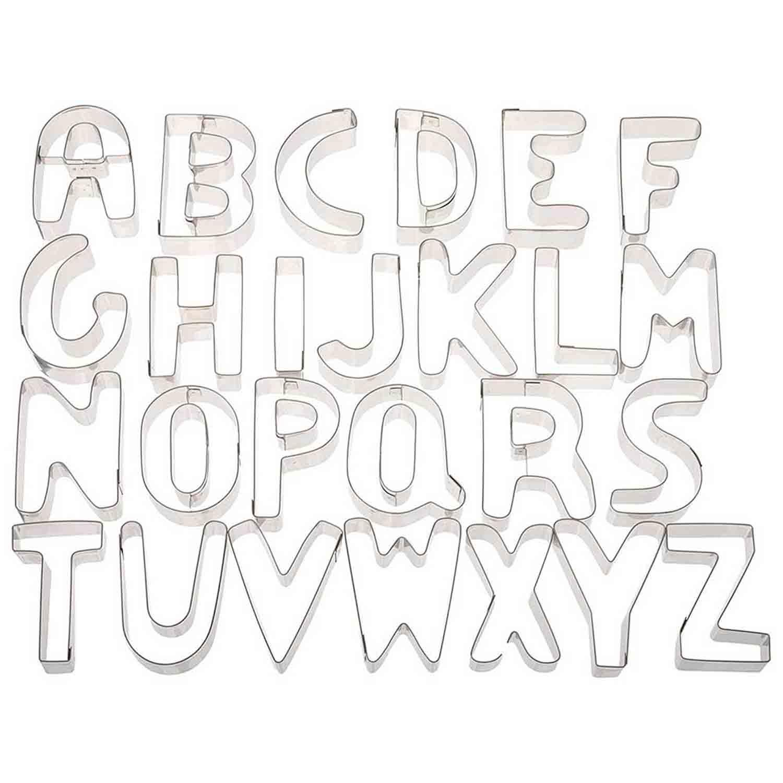 Cookie Cutter Set-Alphabet Large