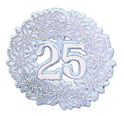 Anniversary Wreath, Plastic-25th
