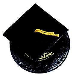 Graduation Hat-Black